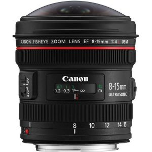Canon EF 8 15mm f 4L Fisheye
